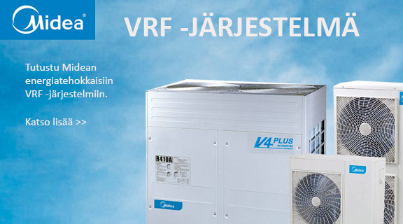 Midea VRF-järjestelmät, ilmastoinnin ratkaisut
