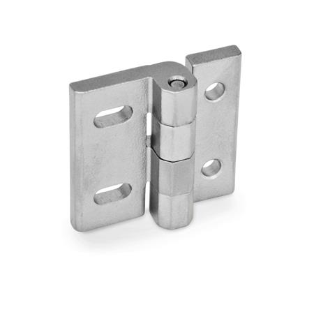 GN-235-Stainless-Steel-Hinges-adjustable-NI-Stainless-Steel-DB-with-through-holes-vertical-adjustable-GS-matte-shot-blasted