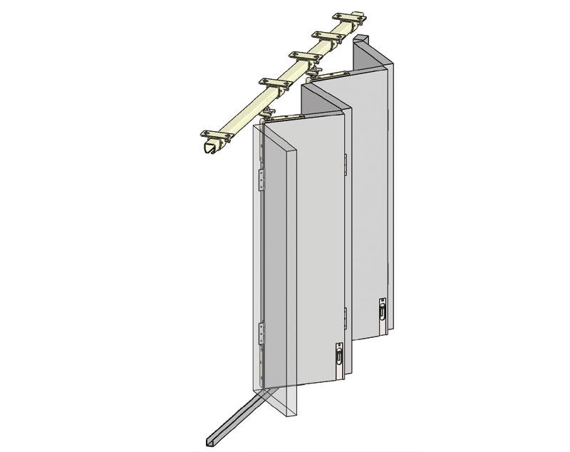 Helm liukukiskot ulko-oville ja autotallin oville