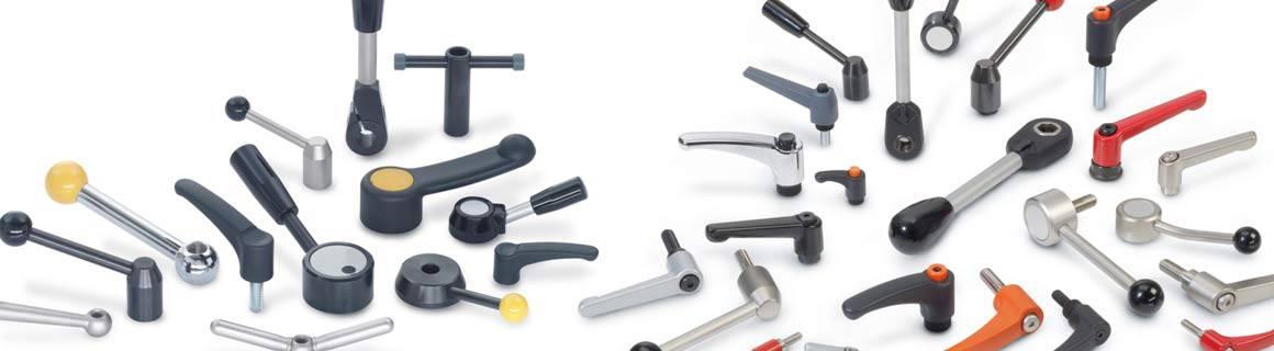 Ganter Norm koneenosat lukitusvivut ja säädettävät lukitusvivut