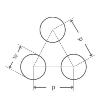 Reikälevy Pyöreä reikä R3 T6