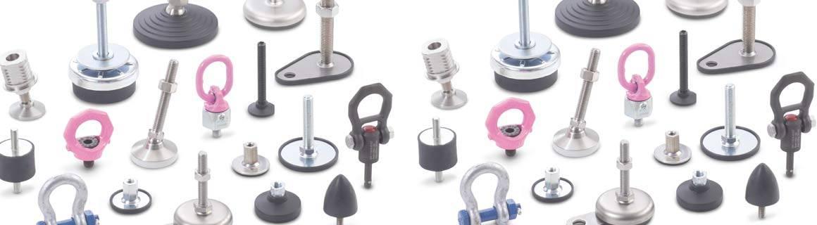 Ganter Norm koneenosat säätöjalat tärinäkumit ja nostotarvikkeet