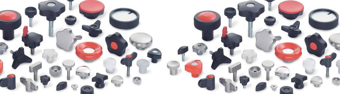 Ganter Norm koneenosat siipivääntimet tähtivääntimet sormiruuvit sormimutterit