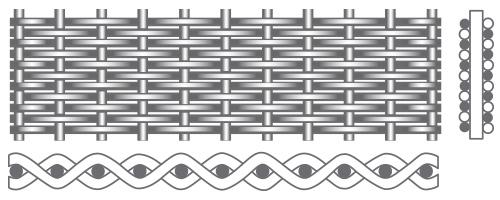 DUTCH-WEAVE kudottu teräsverkko