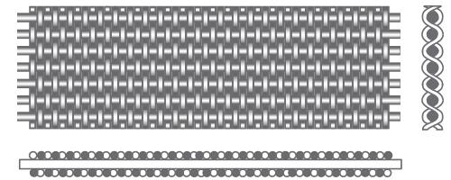 REVERSE-DUTCH-WEAVE kudottu teräsverkko