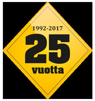 25 vuotis juhlavuoden merkki Spinea