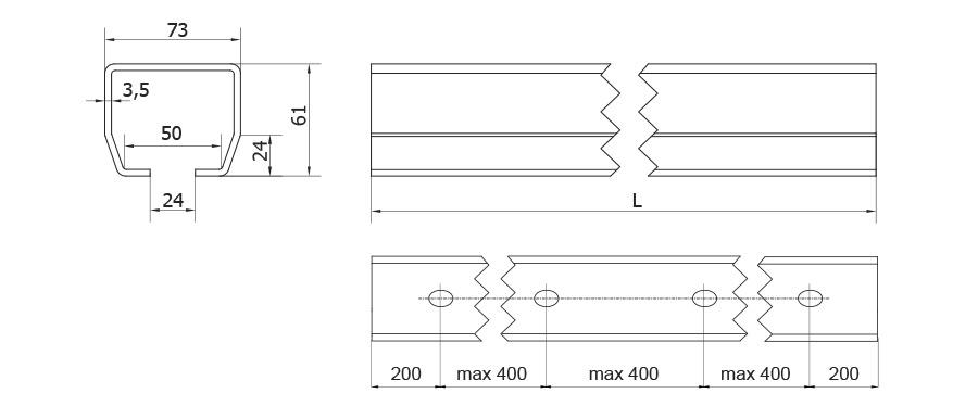 Kiskoa käytetään liukuovissa ja liukuporteissa.