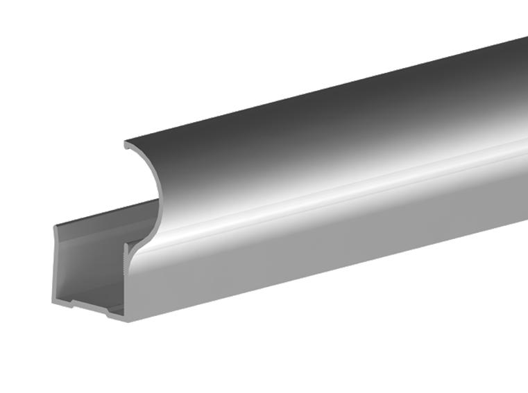 Valcomp Ares 3 liukukiskojärjestelmä kaapeille - alumiiniprofiilit