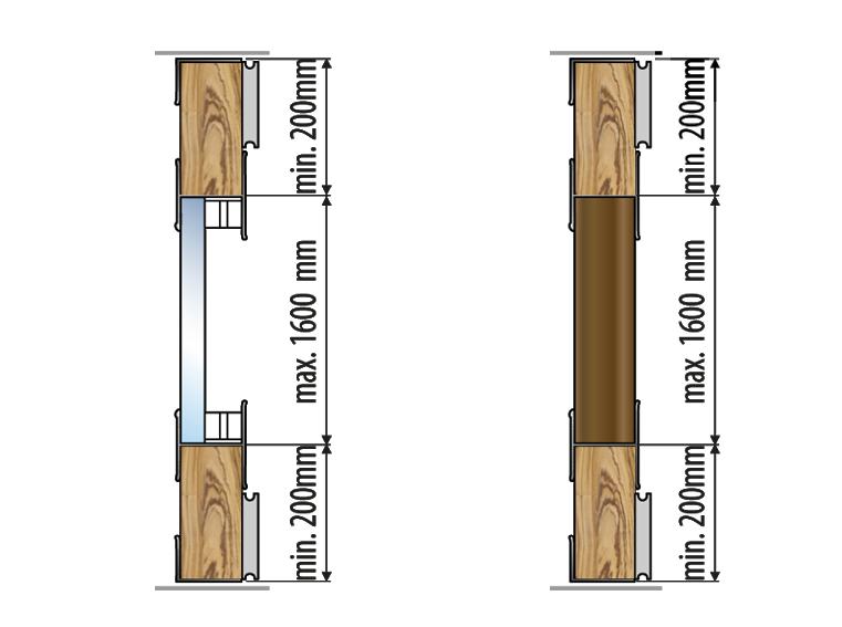 Valcomp Ares 3 liukukiskojärjestelmä kaapeille - mitat