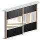 Valcomp Ares 3 liukuovisarja kaapeille - alumiiniprofiilit oville