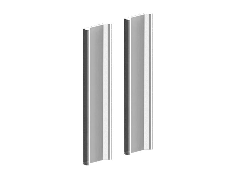 Valcomp Herkules Glass liukukiskot lasiovelle - alumiinikisko