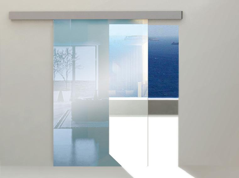 Valcomp Herkules Glass liukukiskojärjestelmä lasiovelle