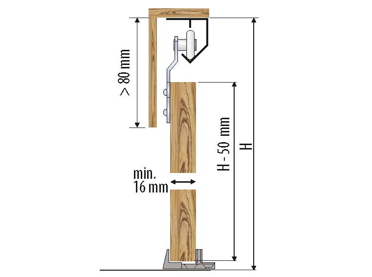 Valcomp Saturn liukukiskot kevyille oville - mitat
