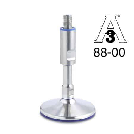 GN-20-Stainless-Steel-Levelling-feet-without-mounting-holes-Hygienic-Design