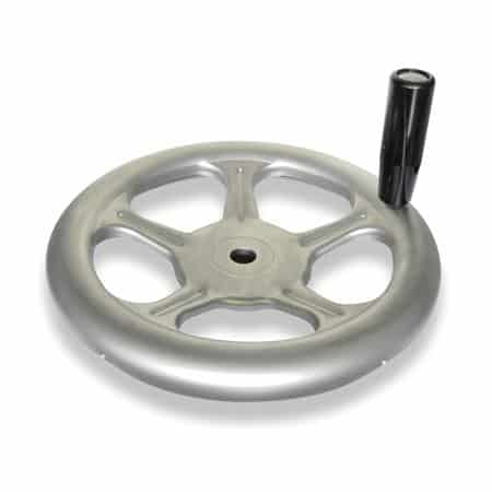 GN-228-Handwheels-made-of-stainless-sheet-steel-A4-Stainless-Steel-B-without-keyway-D-with-revolving-handle