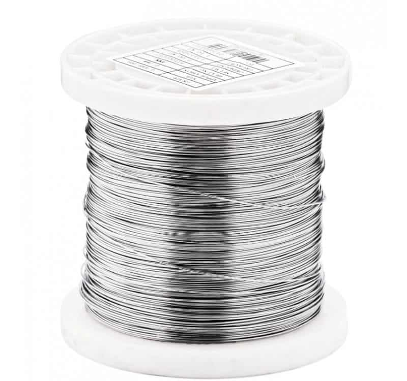 o 0035 mm stainless steel wire 316l v4a soft annealed polished food contact approved 05kg 65000 meters